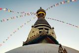 Buddhist Shrine Swayambhunath Stupa - Vintage Filter. Papier Photo par Lora_sutyagina