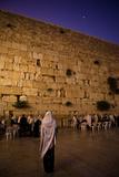 Men Praying at the Wailing Wall  Jerusalem