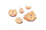 Ripe Watercolor Peeled Tangerines Set for Design