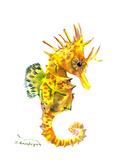 Baby Seahorse Reproduction d'art par Suren Nersisyan