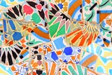 Barcelona  Spain - Gaudi Mosaic