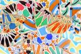 Barcelona, Spain - Gaudi Mosaic Papier Photo par Tupungato