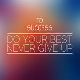 To Success Inspirational Words