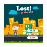 Cartoon Guy Video Game Screen