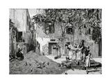 Ricardo De Madrazo Y Garreta (1851-1917) La Ilustracion Artistica  1884 by the Well  Copy