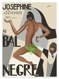 Josephine Baker - Au Bal Negra (The Black Ball) - le 12 Février 1927 (February 12, 1927) Reproduction d'art