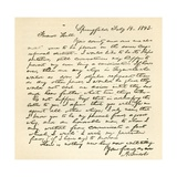 Letter from Abraham Lincoln to Alden Hall  Dated February 14  1843