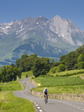 Cyclists  Grange Sous La Neige  Midi-Pyrenees  France