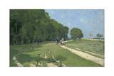 Path Near the Parc De Courances; Chemin Pres Du Parc De Courances  1868