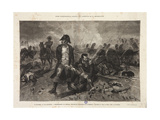 The Burial of the Flag  Episode of the Battle of Waterloo  Engraved by Jules Claretie  1879