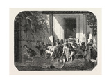 Salon of 1855 Leaving the Turkish School  Watercolor  1855