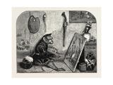 Salon of 1855 Monkey Painter  1855