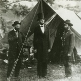 Abraham Lincoln with Allan Pinkerton and Major General John A Mcclernand  1862