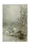 The White Rabbit from 'Alice's Adventures in Wonderland'  1907 (Pen  Ink and W/C on Paper)