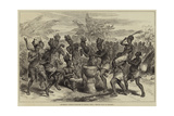 Lieutenant Cameron's Sketches in Central Africa  Wedding Dance at Kibaiyeli