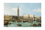 The Molo from the Basin of San Marco  Venice  C1747-1750