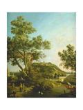 English Landscape Capriccio with a Palace  1754