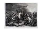 Napoleon at Waterloo  by Jean Pierre Marie Jazet (1788-1871)  C1870 (Mezzotint)