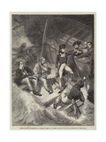 Lieutenant Nelson Volunteering to Board a Prize in a Violent Gale  20 November 1777