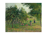 Apple Trees and Hay Makers at Eragny; Pommiers Et Faneuses  Eragny  1895