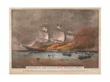 Burning of the Clipper Ship  'Golden Light'