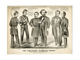 The Political Siamese Twins  the Offspring of Chicago Miscegenation  1864