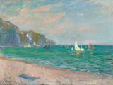 Boats Below the Pourville Cliffs; Bateaux Devant Les Falaises De Pourville  1882