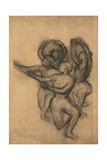 Group of Dancers; Groupe De Danseuses  C1895-1900 (Charcoal on Joined Paper Laid Down on Board)