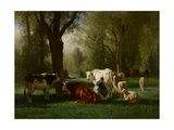 Landscape with Cattle and Sheep  1852-8