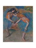 Two Dancers with Yellow Corsages; Deux Danseuses Aux Corsages Jaunes