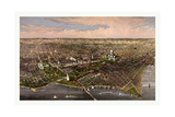 The City of Washington Birds Eye View from the Potomac  Looking North  Circa 1880  USA  America