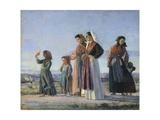 Returning from Mass  Circa 1865