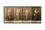 Image Sequence of a Man with a Hat Walking  'Animal Locomotion' Series  C1887
