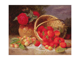 Still Life of Basket with Strawberries and Cherries  1898