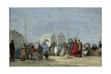 Beach Scene at Trouville; Scene De Plage a Trouville  1864