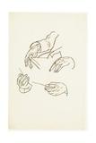 Hands  Studies for a Portrait of Dr Hugo Koller