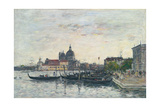 Venice  the Mole at the Entrance to the Grand Canal and the Salute  Evening  1895