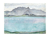 Thunersee with the Stockhorn Mountains  1910
