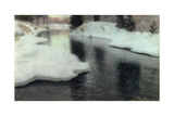 Thawing Ice: the Lysaker River  1887