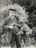 Keeper Z Rodwell Holding Young Orangutan at London Zoo  October 1913