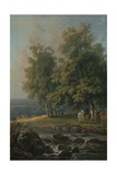 Horses and Cattle by a River  1777