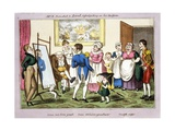 Mr B Promoted to Lieut and First Putting on His Uniform  1835 (Hand-Coloured Aquatint)