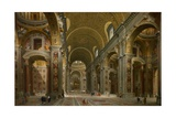 Interior of St Peter's  Rome  1731