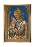 Madonna and Child under an Arch  1508 (Woodcut  Overworked with Watercolour and Bodycolour)