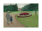 The Park of the Caillebotte Property at Yerres  1875