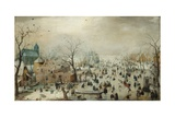 Winter Landscape with Skaters C1608