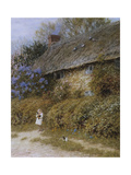 Old Cottage at Freshwater  Isle of Wight (Watercolour with Scratching Out)