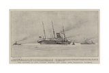 The Salving of the Paris  Towing the Liner into Falmouth Harbour