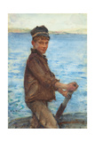 Steering the Punt  1909