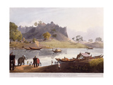 Ruins of the Port at Juanpore on the River Goomtee  1824 (Colour Aquatint)